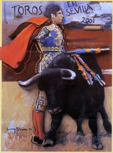 Cartel taurino Feria de Sevilla 2001