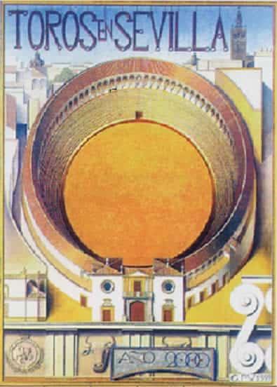 Cartel de toros Feria de Sevilla 2000