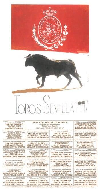Cartel de la Feria de Sevilla 1997