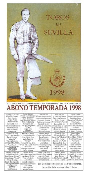 Cartel de la Feria de Sevilla 1998