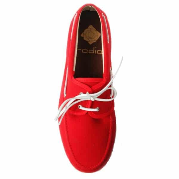 zapatos nauticos de tela de muleta