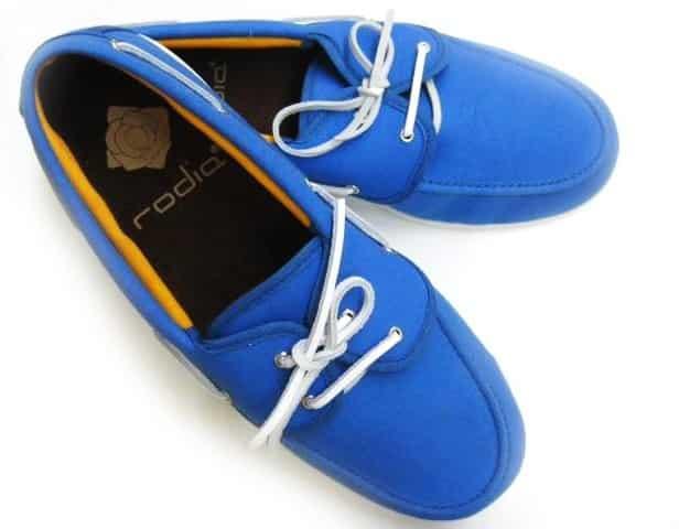 Náuticos de tela de capote azul de TS para hombre