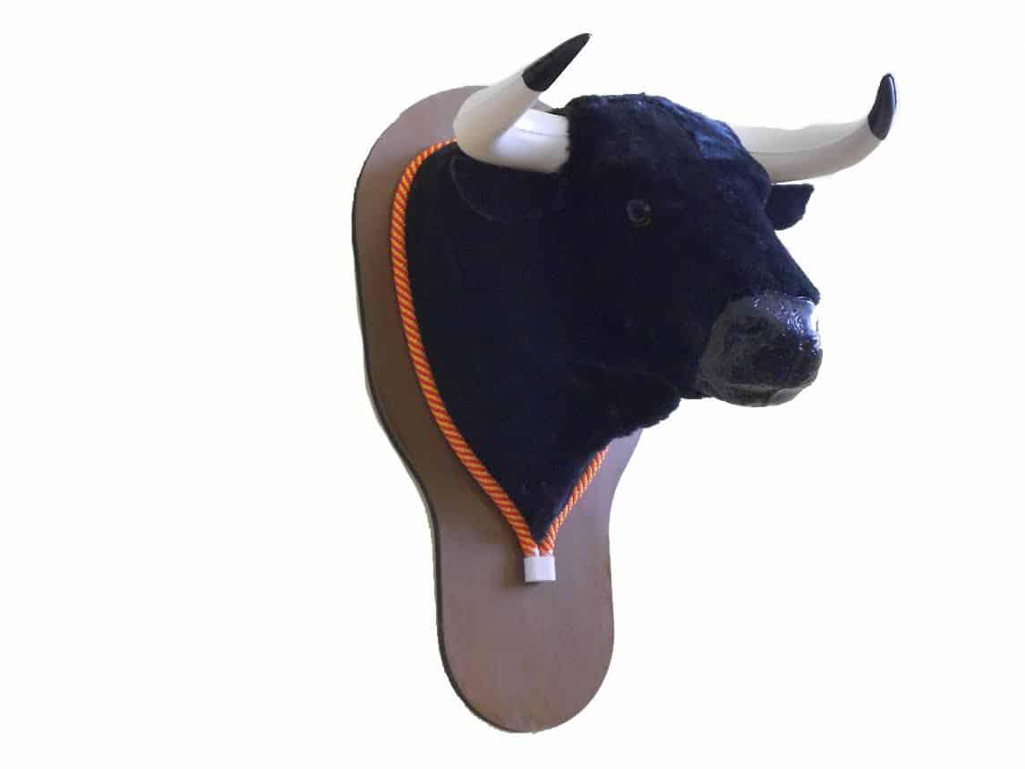 Cabeza de toro de decoración