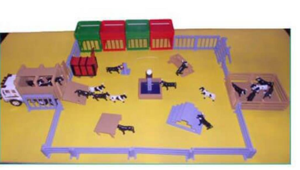 Pack camión y corrales de toros de juguete