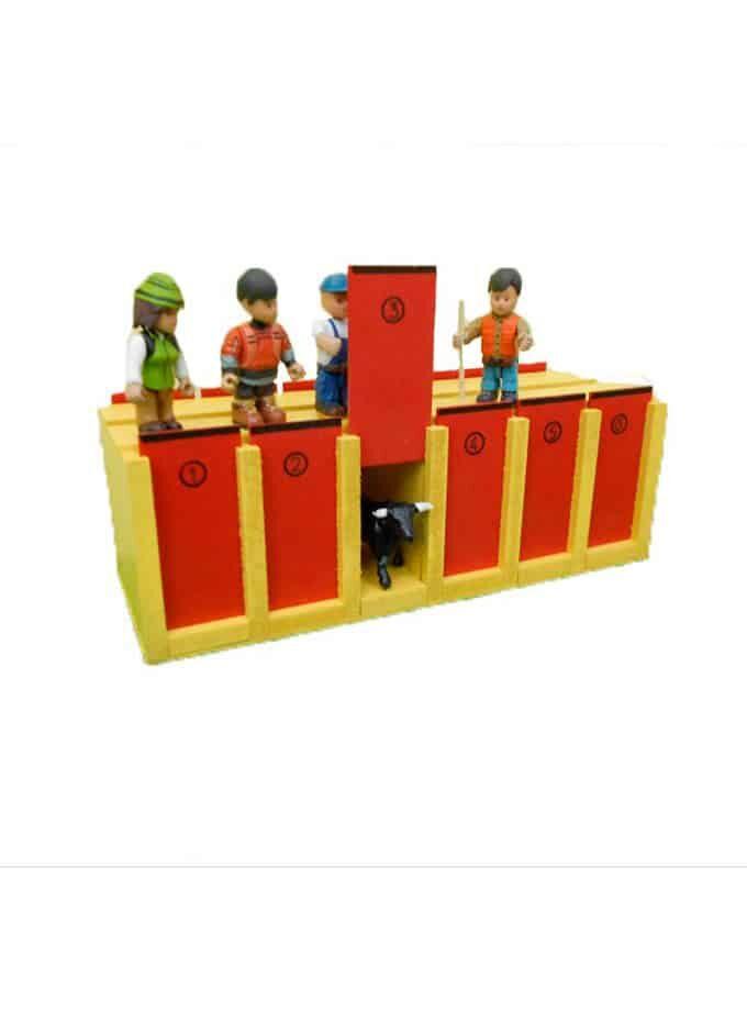Cajones para toros de juguete