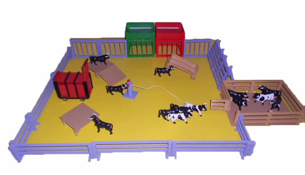 Pack farmyard for bull toys