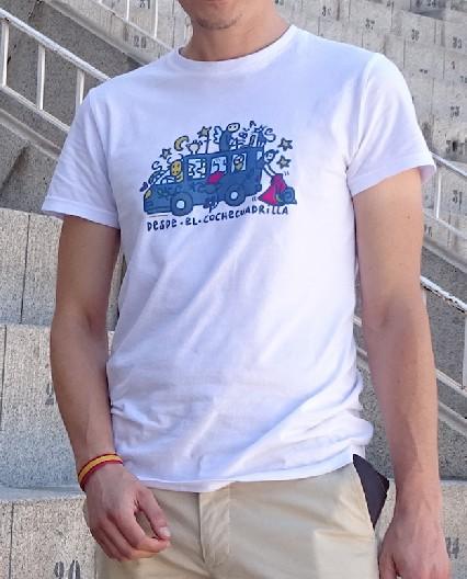 Camiseta Desde el Coche Cuadrilla para Hombre