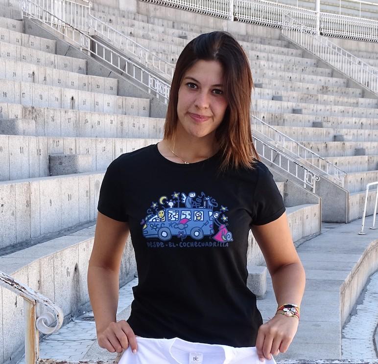 Camiseta Desde el Coche Cuadrilla para Mujer