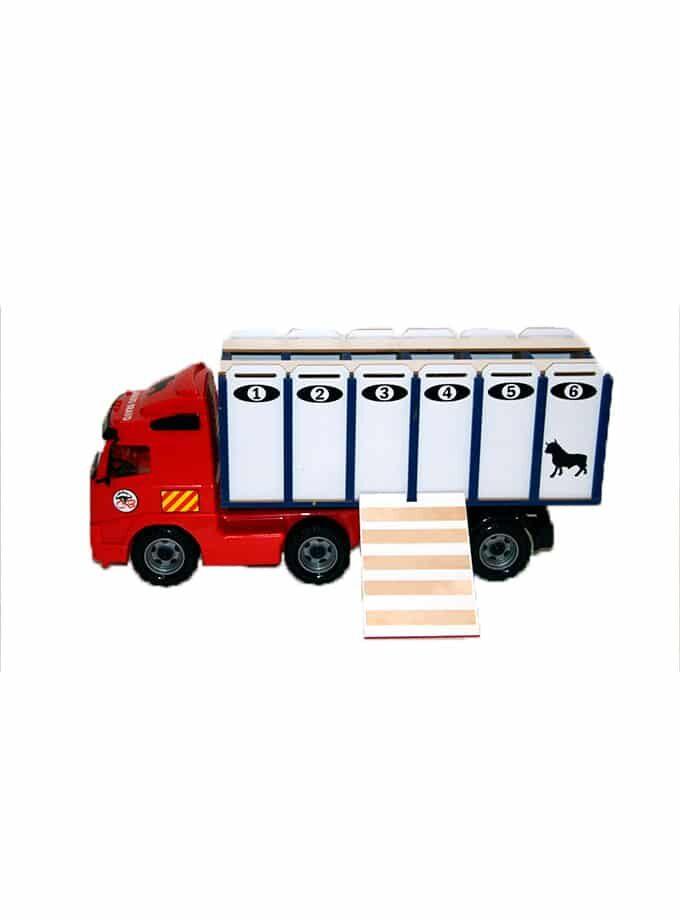Camion de transport de taureaux de jouet