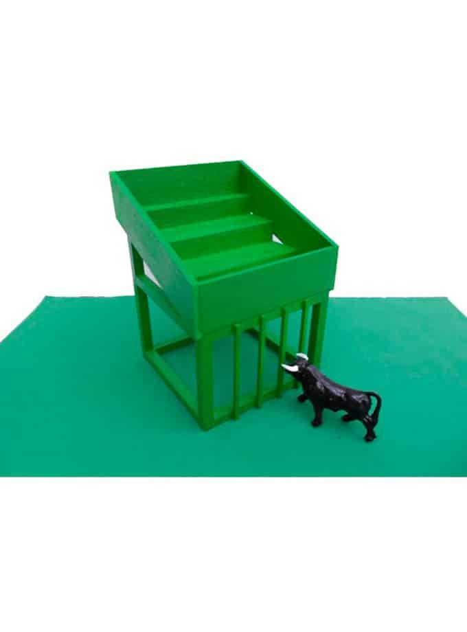 Cadafal Encierro para toros de juguete verde