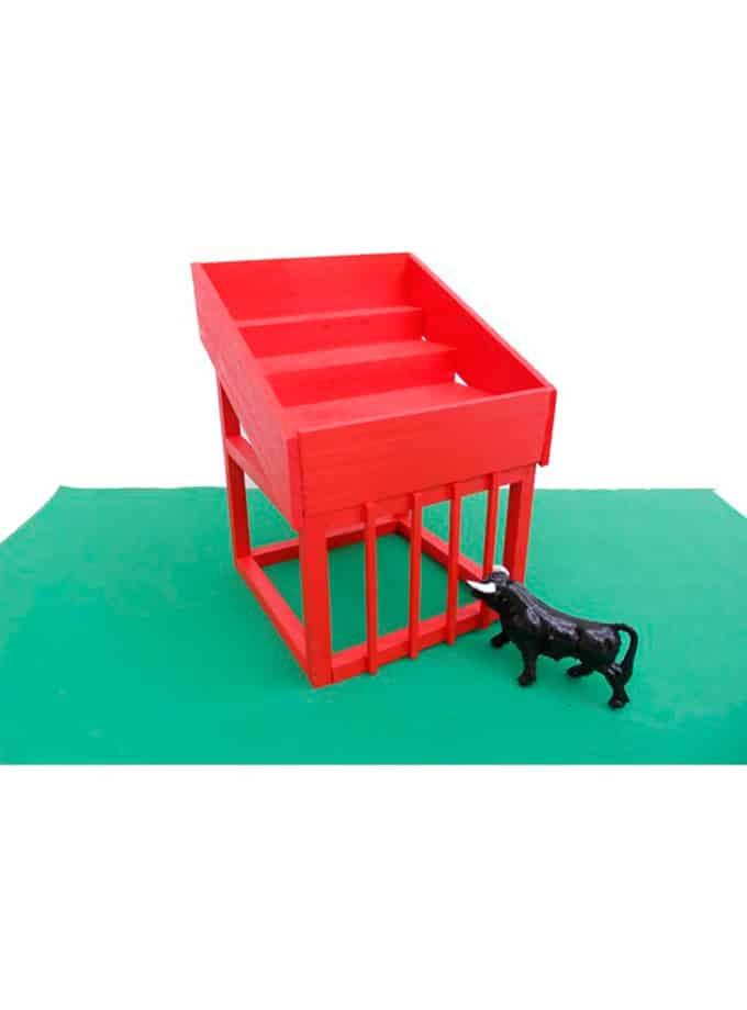 Cadafal Encierro para toros de juguete rojo