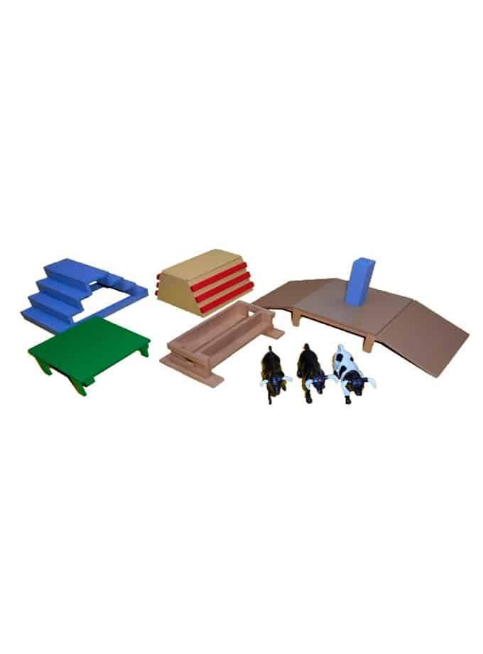 Conjunto de obstáculos para toros