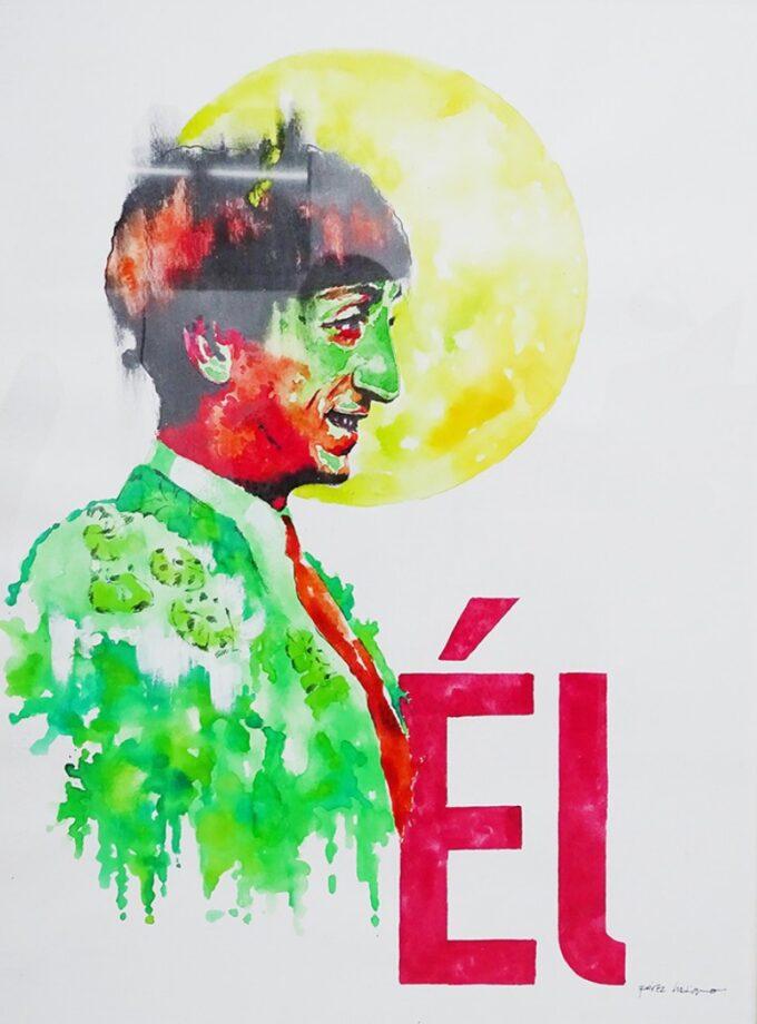 Pintura sobre Manolete EL