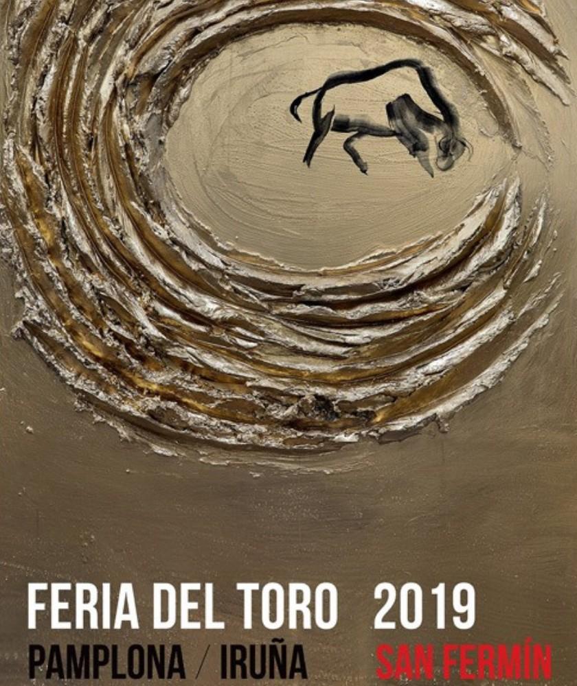 Cartel de la Feria del toro San Fermin 2019