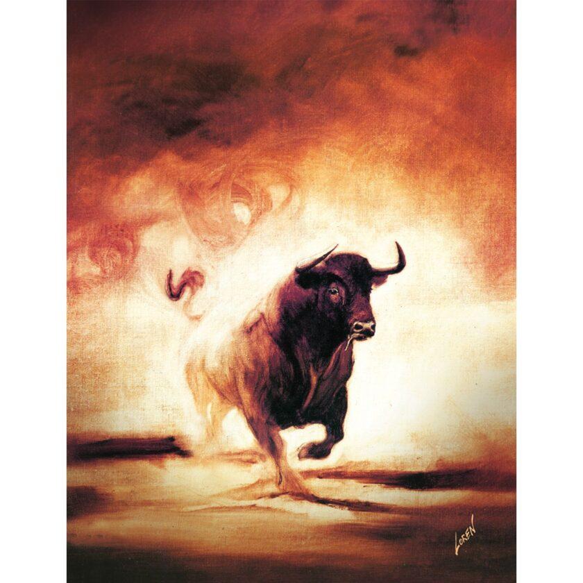 Cartel Toro Fuego de Pamplona 2018