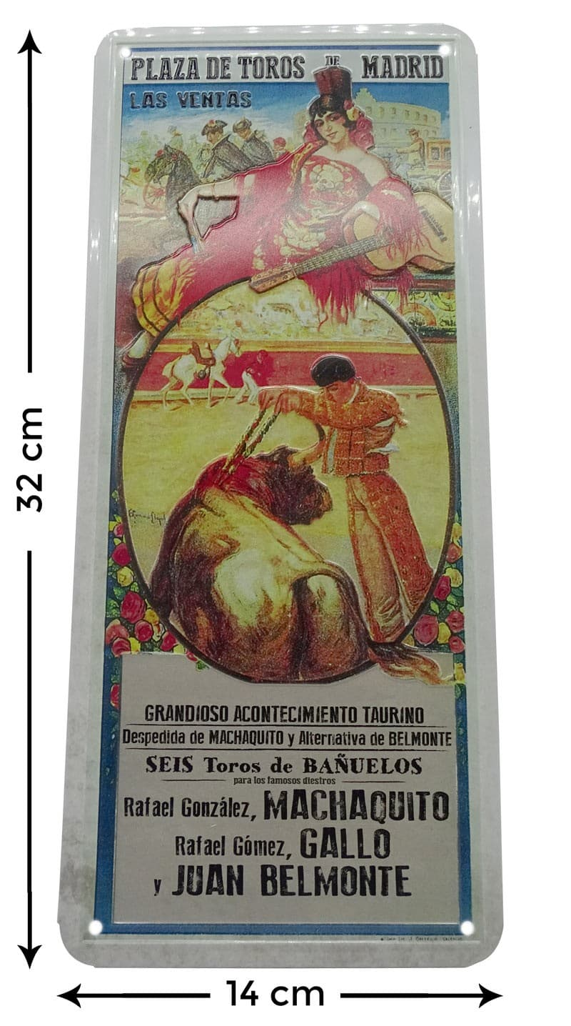 Placa metal vintage Machaquito