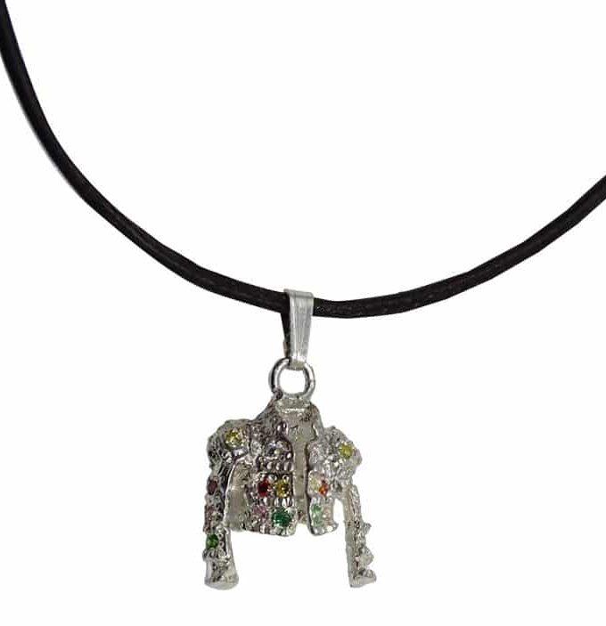 Colgante torera en plata con circonitas de colores