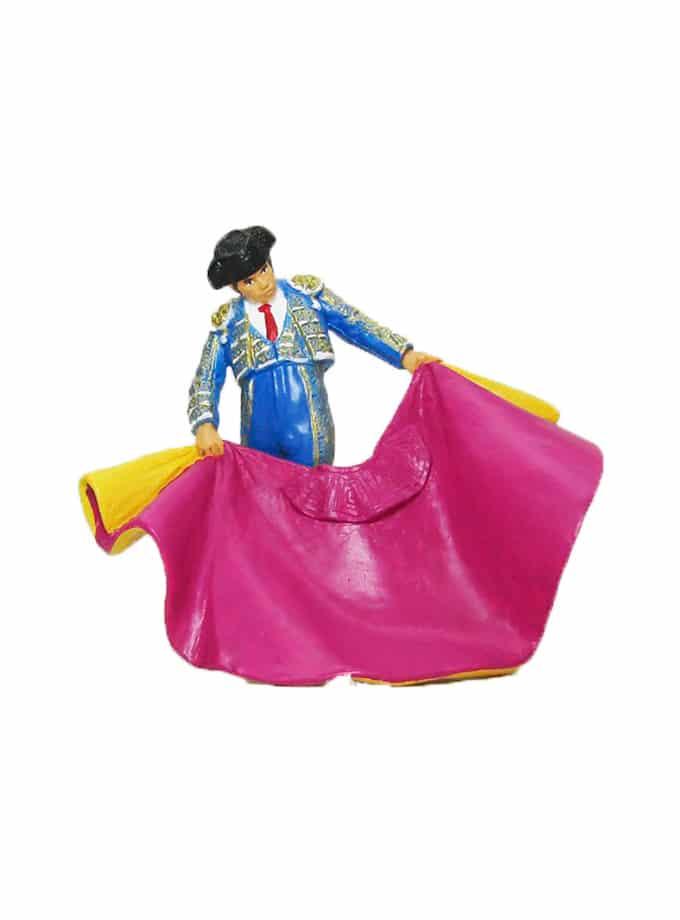Figura de Torero con Capote Meskebous azul
