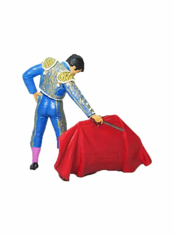 Figura de Torero con Muleta Meskebous azul