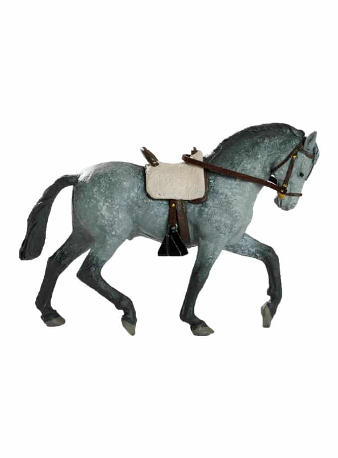 Figura de Caballo Meskebous gris