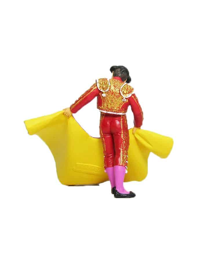 Figura de Torero con Capote Meskebous rojo