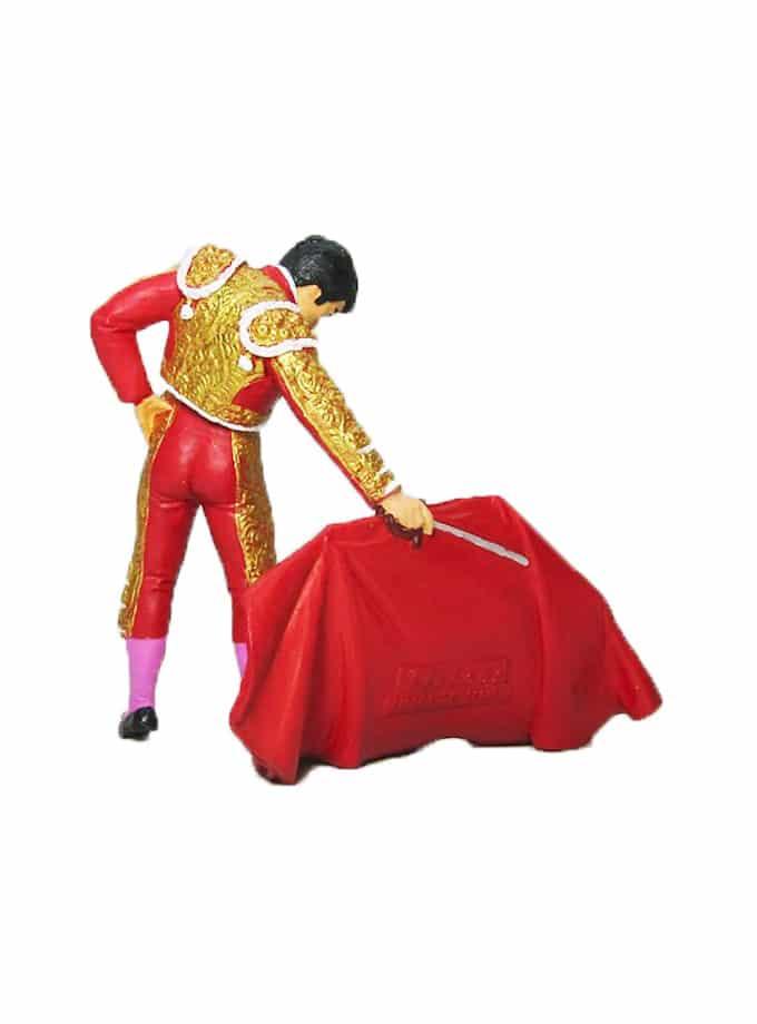 Figura de Torero con Muleta Meskebous roja