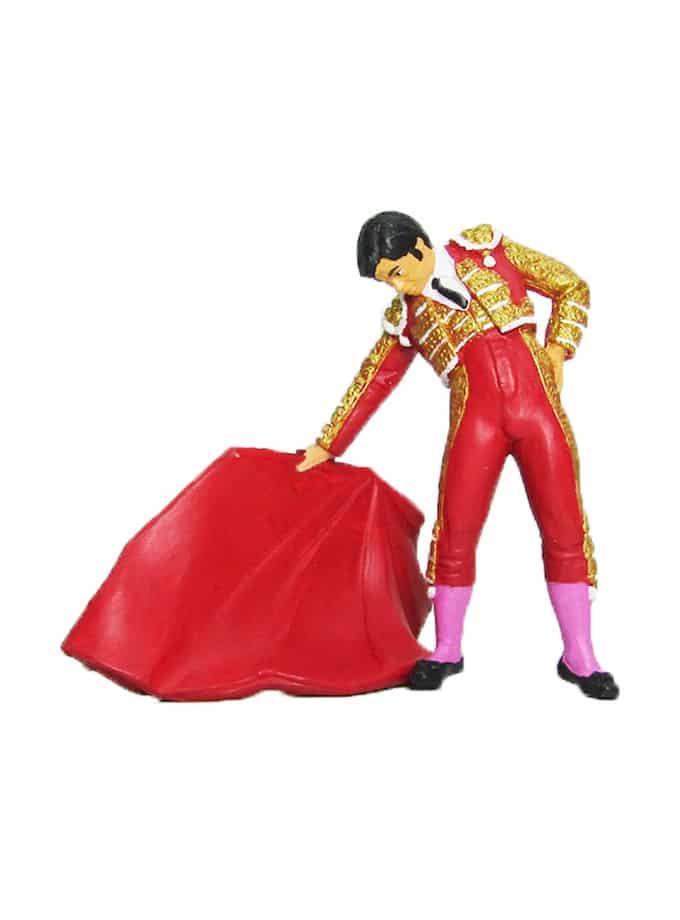 Figura de Torero con Muleta Meskebous rojo
