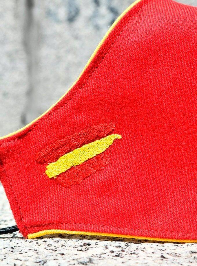 Masque de cape de torero rouge drapeau espagne