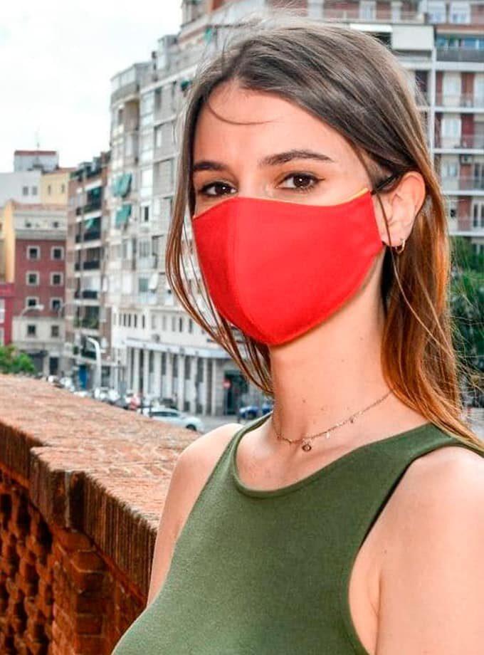 masque de cape rouge de torero avec filtre