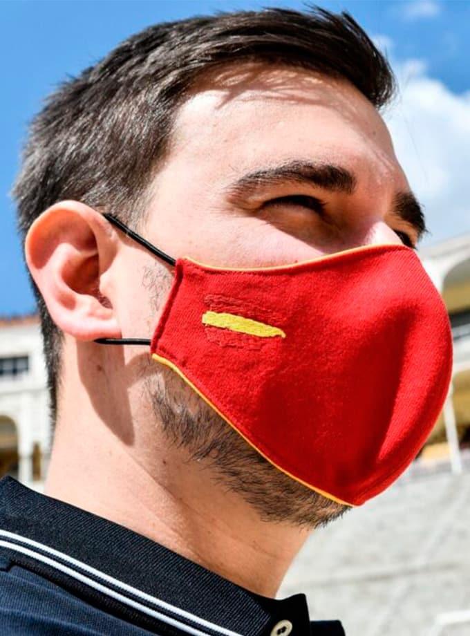 Mascarilla de tela de muleta con filtro homologado