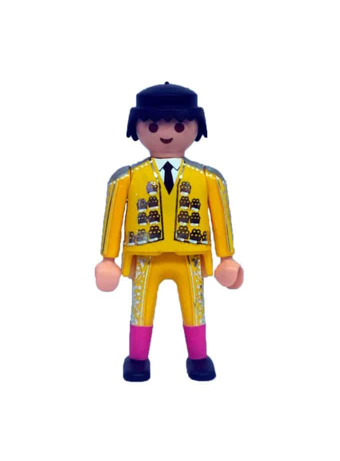Playmobil torero para plaza de toros de juguete amarillo