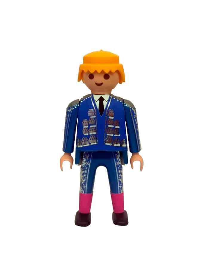 Playmobil torero para plaza de toros de juguete azul