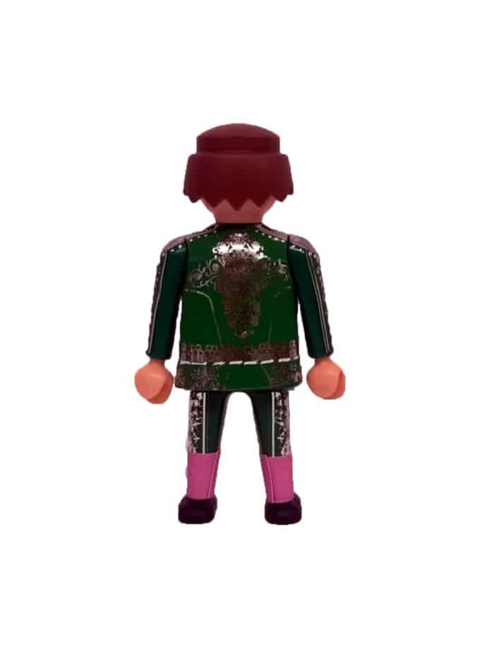 Playmobil torero para plaza de toros de juguete verde de espaldas