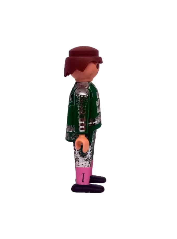 Playmobil torero para plaza de toros de juguete verde de lateral