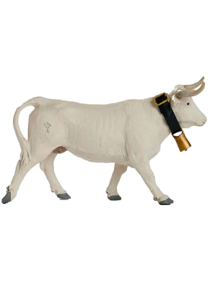 Vaquilla de Juguete Meskebous color blanco