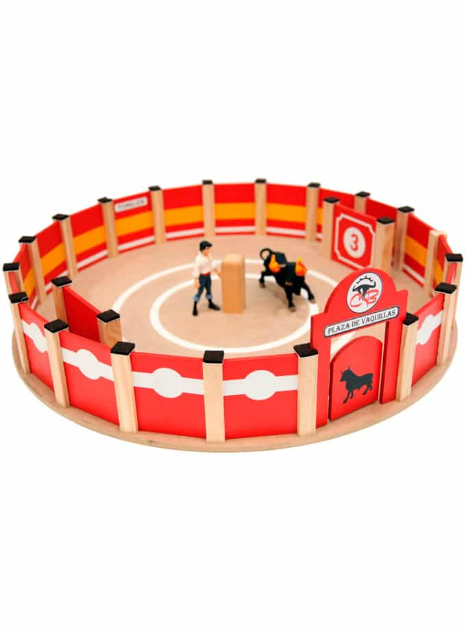 Wooden toy bullring