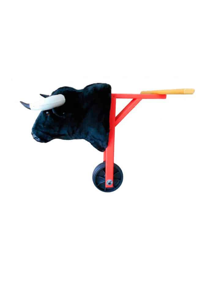 Carretón infantil con cabeza de toro