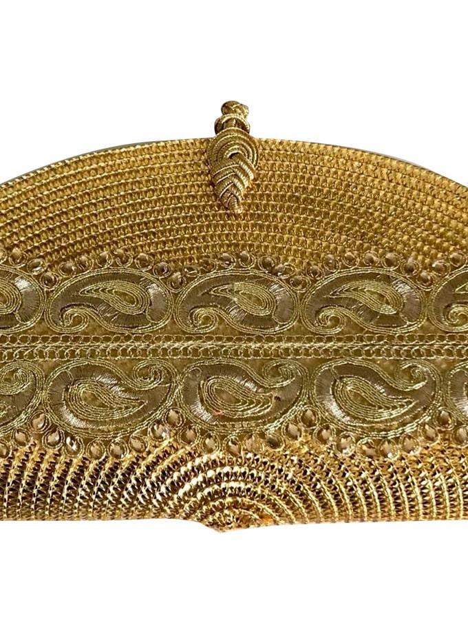 Bolso de mano de luces oro