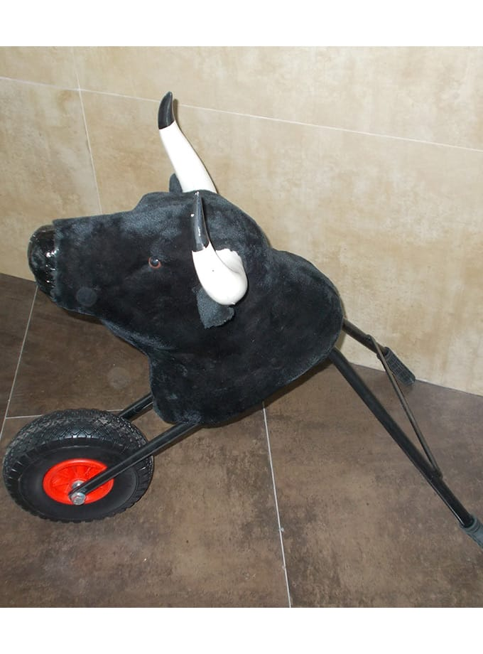 Chariot avec tete de taureau