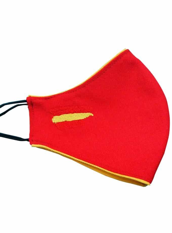 Mascarilla de tela de muleta con bandera de España