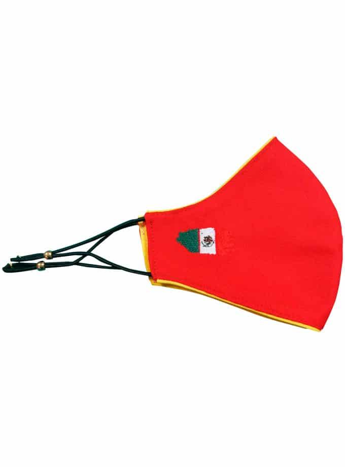Mascarilla de tela de muleta con bandera de México