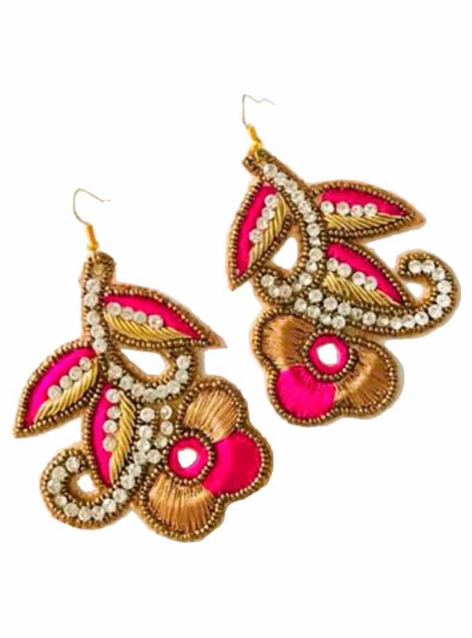 Javier fuchsia earrings