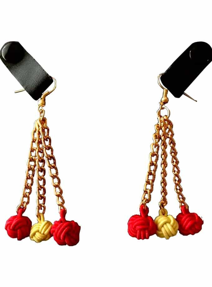 Red our earrings