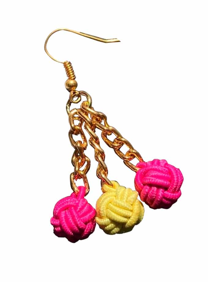 Our pink earrings